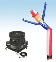 18' Fly Guy Inflatable Tube Man with Blower - Uncle Sam