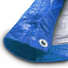 6' x 8' Blue & Silver Multi-Purpose Water Resistant Poly Tarp Cover