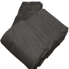 12' x 20' Black Mesh Poly Tarp