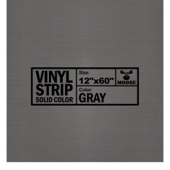 "Moose Supply Solid Gray Vinyl Strip 12"" x 60"""
