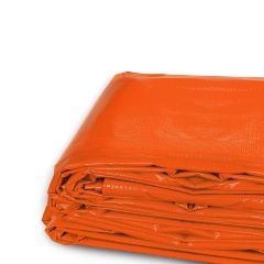 8' x 10' Heavy Duty Waterproof PVC Vinyl Tarp - Orange