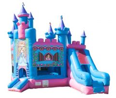 Princess Castle Slide Bounce House and Slide Combo with Blower