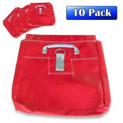 Commercial Sand Bags, Red 10 Pack