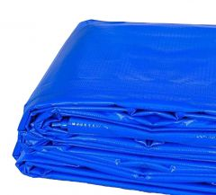 15' x 15' Heavy Duty Waterproof PVC Vinyl Tarp - Blue
