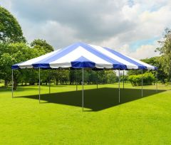 20' x 30' PVC Weekender West Coast Frame Party Tent - Blue
