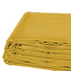 6' x 8' Heavy Duty Waterproof PVC Vinyl Tarp - Yellow