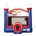 Patriotic Bounce House with Blower