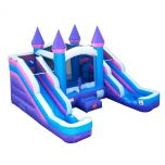 Crossover Pink Double Slide Bounce House Wet/Dry Combo