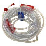 27' Hose with 10' Long Triple Sprinkler Heads, Fits Small Residential Water Slide Combos