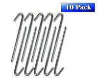 "1/2"" x 12"" Steel J-Hook Stakes - 10 Pack"