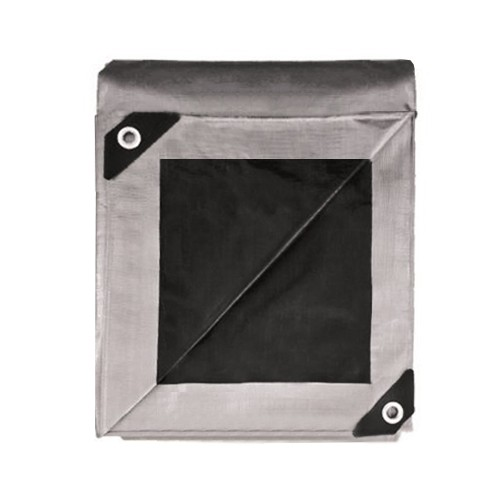Buy Black/Silver Heavy Duty Waterproof Poly Tarp for Sale
